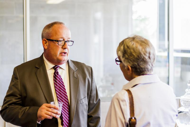 Bloomington city manager finalist Tim Gleason during a meet and greet Tuesday, June 5, 2018.
