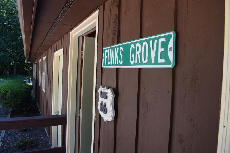 The Funks Grove Pure Maple Sirup Shop in rural Shirley.