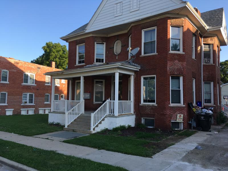 The shooting happened in the 600 block of West Jefferson Street, Bloomington Police said.
