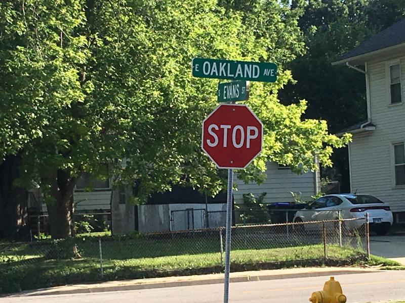 The incident happened just after midnight near Oakland Avenue and Evans Street, just southeast of downtown Bloomington.