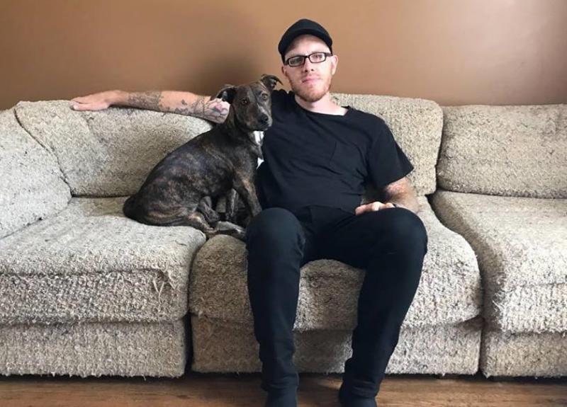 Stefen Robinson and his dog Kodo