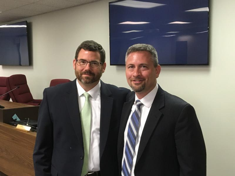 Don Knapp (left) has been tabbed to succeed Jason Chambers as McLean County State's Attorney.