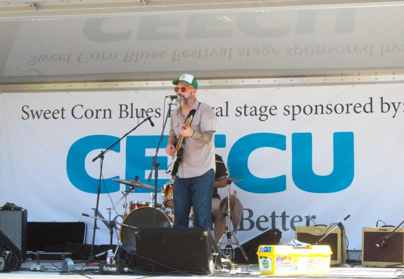 Edward David Anderson performs on the CEFCU stage.