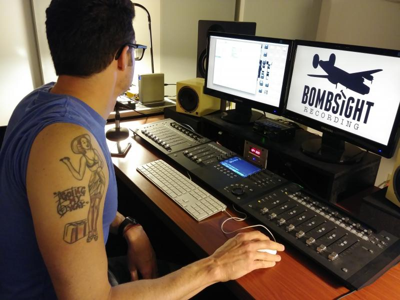 David Rossi at Bombsight Recording Studios