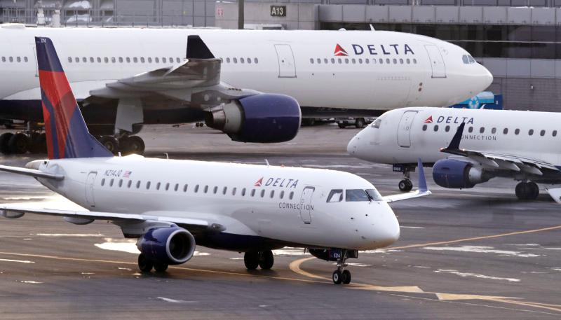 Delta airplanes on runway