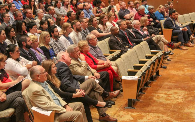Audience attends ISU speech