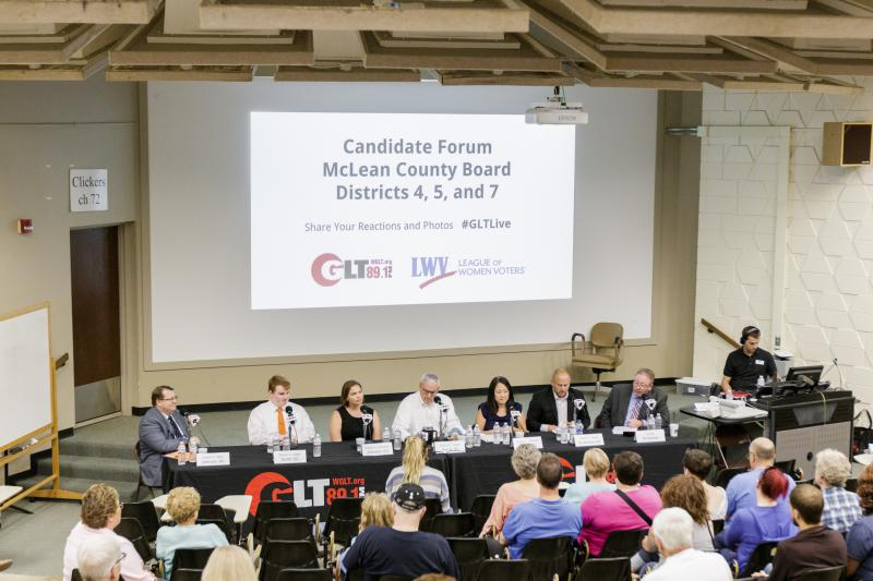 County board candidates at the forum