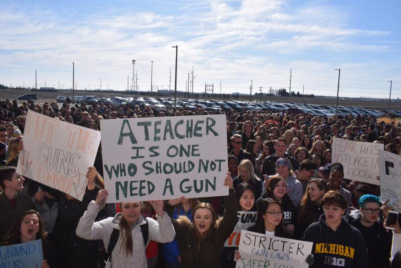 Protest at NCHS for gun control