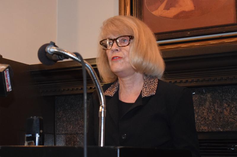 Kathy Michael at podium