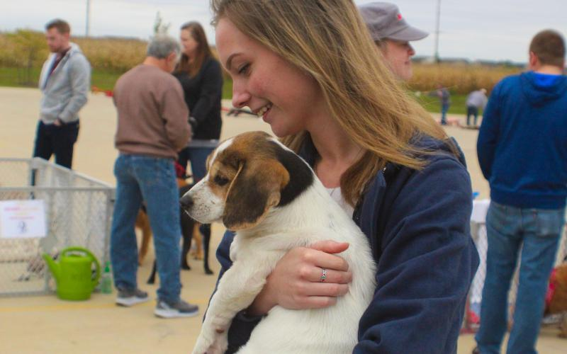Neo gets adopted at Barks & Brews on Saturday, Sept. 29, 2018.