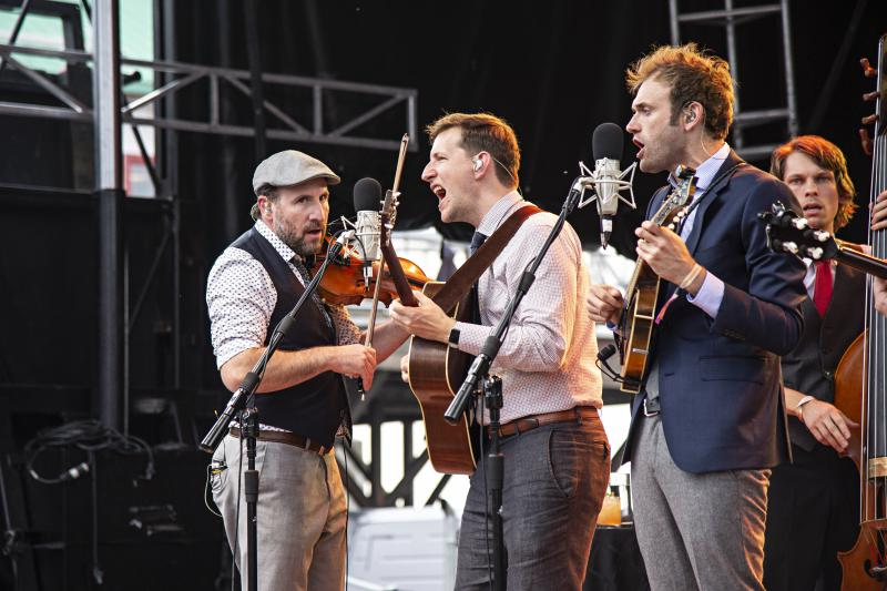 Punch Brothers perform on stage