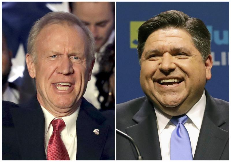 JB Pritzker and Bruce Rauner