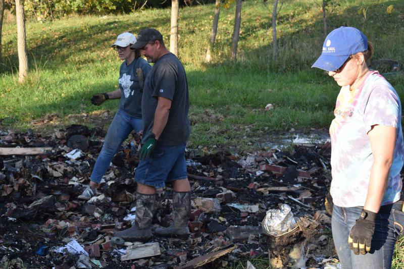 Brad Dearing and volunteer fire cleanup