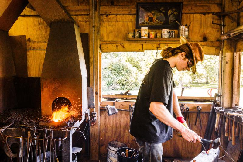 Blacksmithing involves heating, shaping, and reheating metal until you've reached your desired shape.