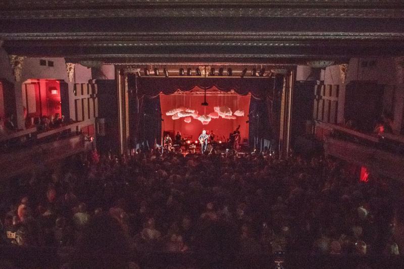 Crowd inside Castle Theatre