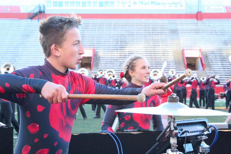 The Rockford Public Schools marching band performs at the 2018 State of Illinois Invitational High School Marching Band Championships at Illinois State University on Saturday, Oct. 20, 2018.