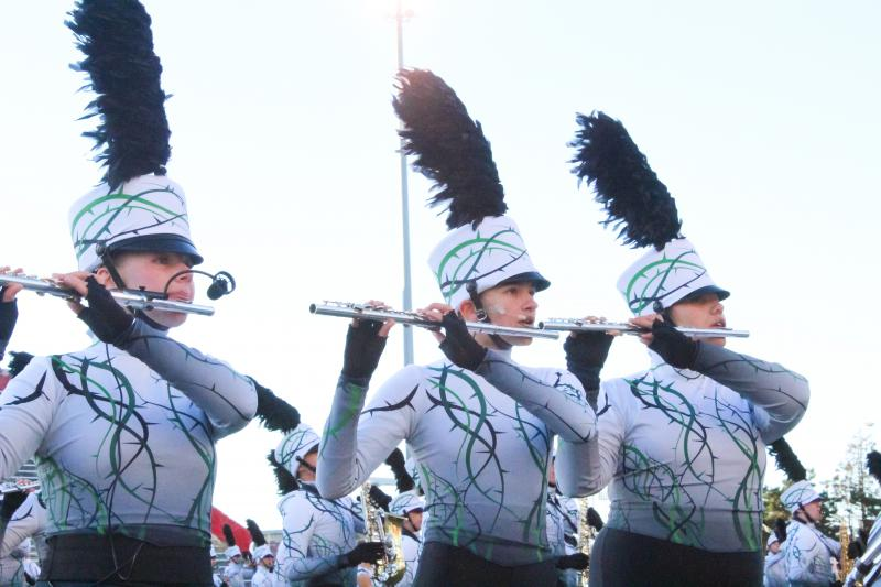 Lincoln-Way performs at the 2018 State of Illinois Invitational High School Marching Band Championships at Illinois State University on Saturday, Oct. 20, 2018.