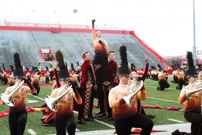 The Normal Marching Band performs at the 2018 State of Illinois Invitational High School Marching Band Championships at Illinois State University on Saturday, Oct. 20, 2018.