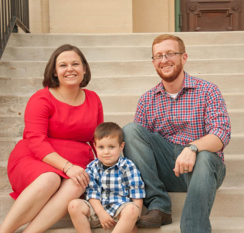Democrat Jen McMillin and her family.