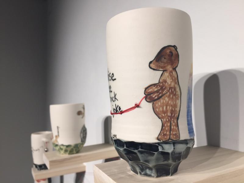 Bear on cup