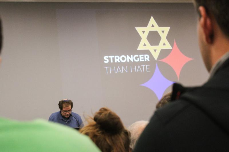More than 200 people attended a vigil in ISU's Schroeder Hall on Thursday night.