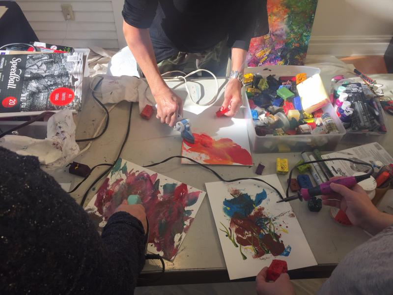 Creating encaustic art