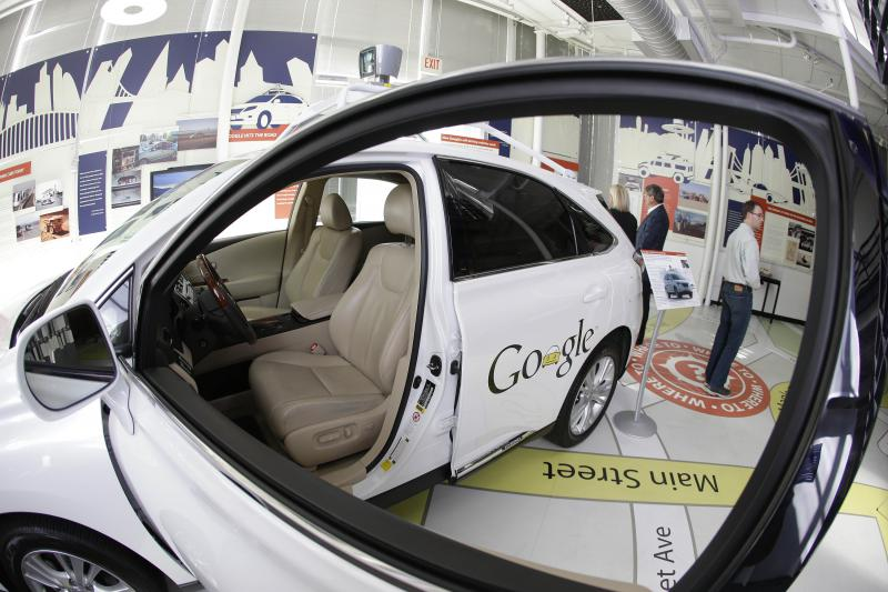 A Google self-driving car is on exhibit at the Computer History Museum in Mountain View, Calif. May 14, 2014.