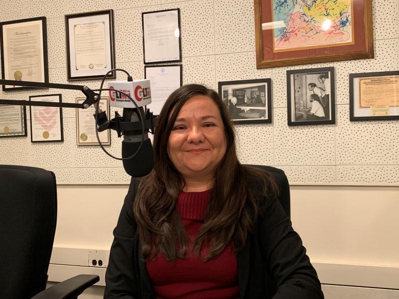 Adriana Martinez in studio