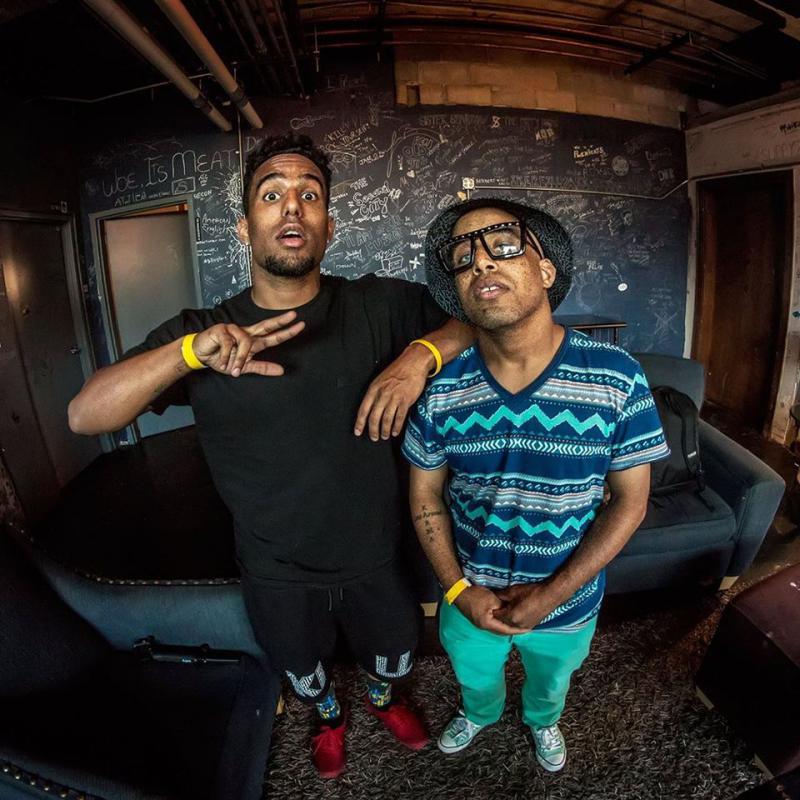 Brandon DaZ (Right) with Futuristic.