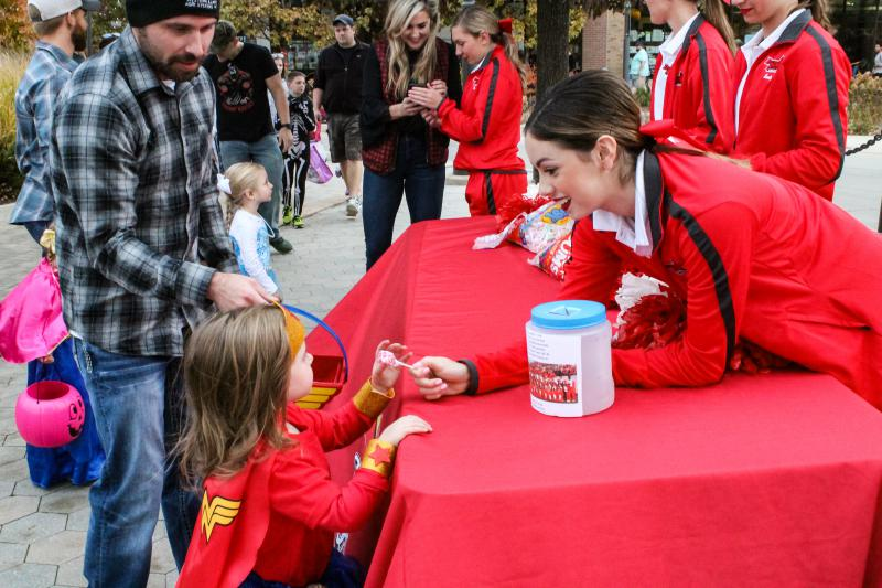 Highlights from the Treat Feast trick-or-treating event in Uptown Normal on Tuesday, Oct. 30, 2018.