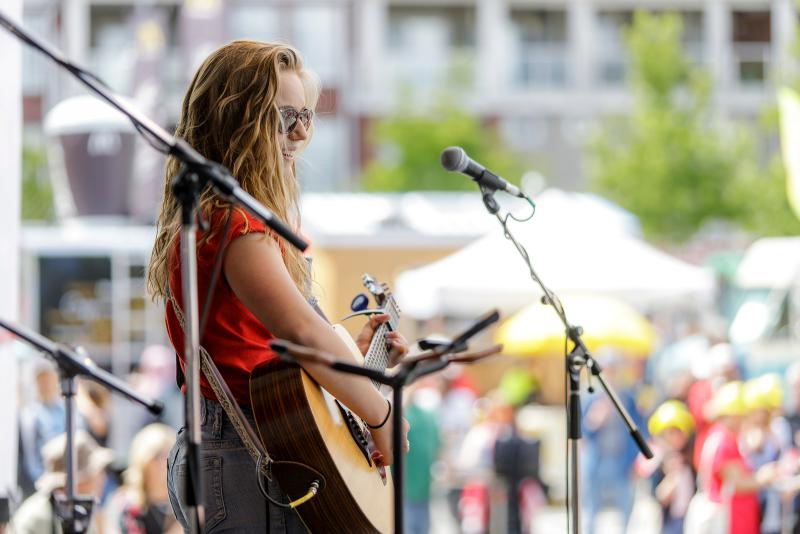 Leah Marlene performing at Canada Day Festival in Richmond, BC