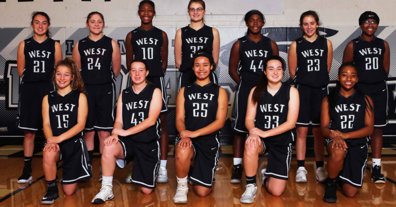 Normal West girls basketball junior varsity