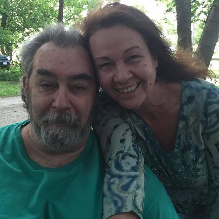 Denny De Bourbon in early 2018 with friend Margo Funk Barwald