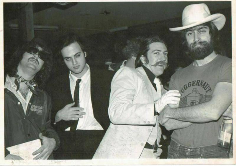 Denny De Bourbon, circa late 1970s at the Lazy-J Saloon near Cooksville when he worked at New Age Entertainment