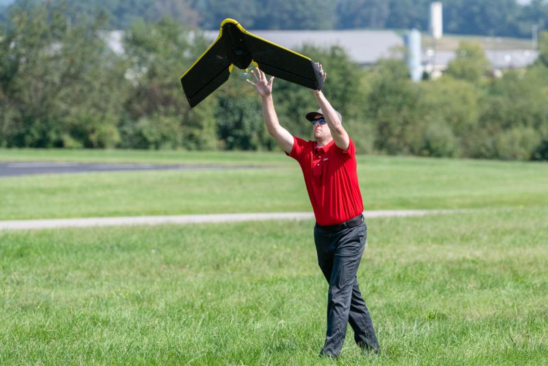 State Farm employees launches drone