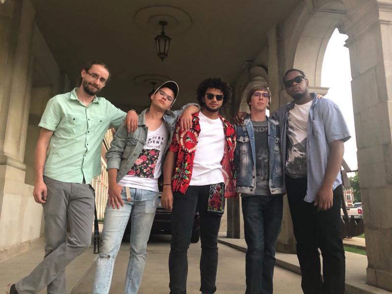 Sunday Afternoon, from left: Logan Berg, Jacob Labertew, Austin Willis, Nick Saathoff, DiMari Fennell