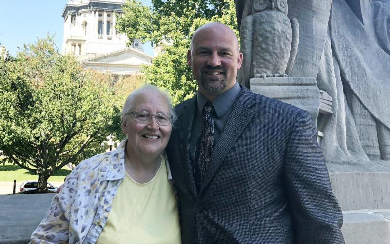 Alan Beaman and mother