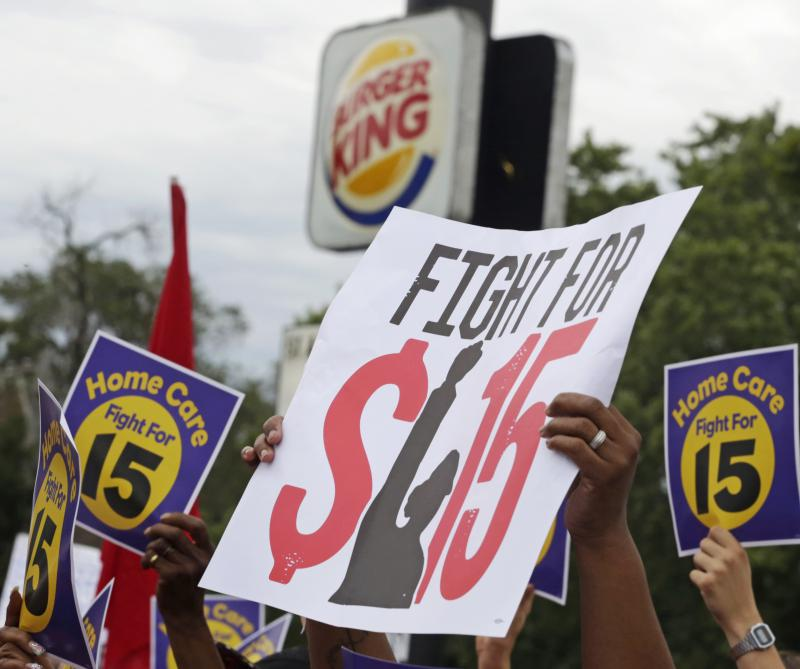 Fight for $15 rally