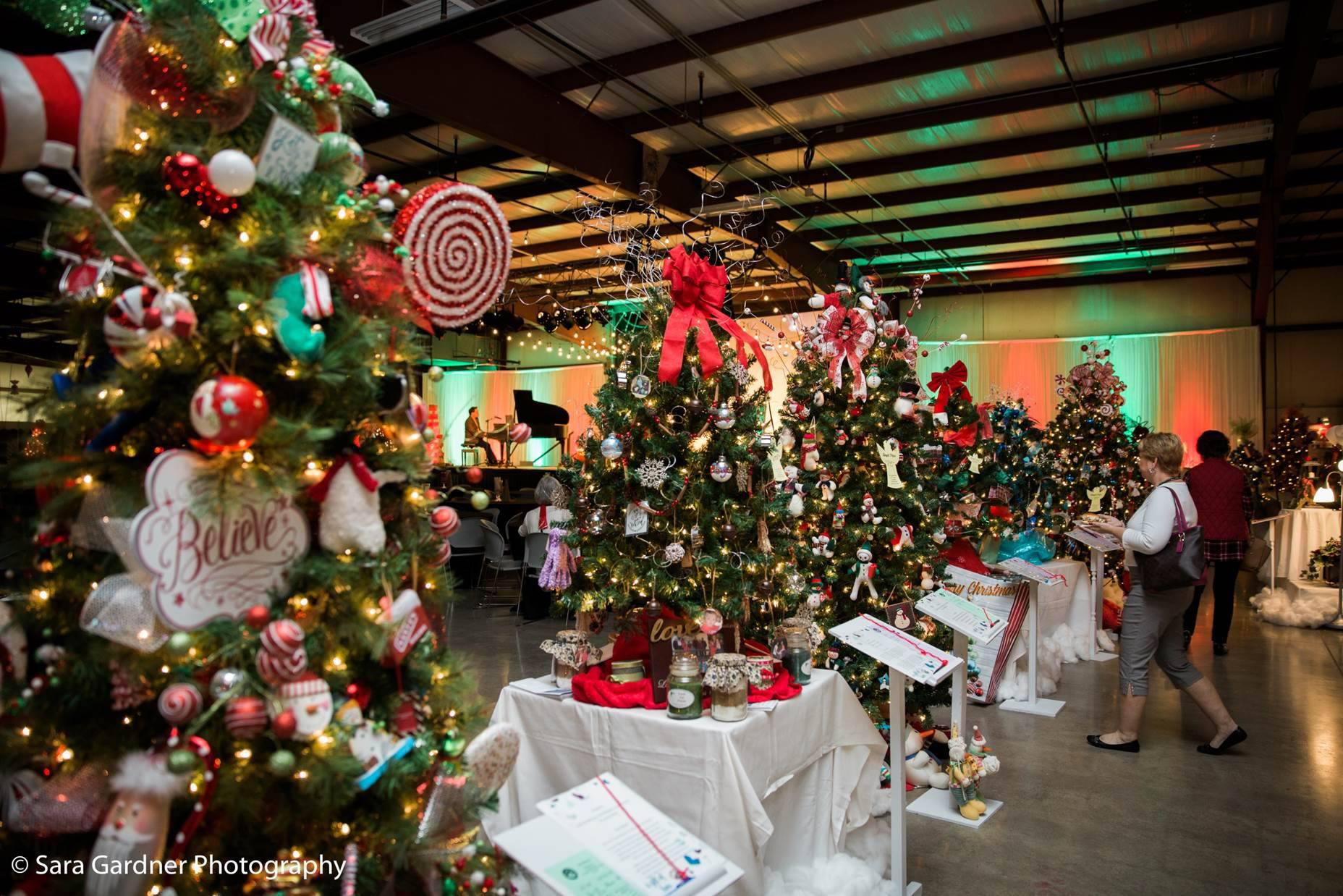 sales of professionally decorated christmas trees support programs at the baby fold