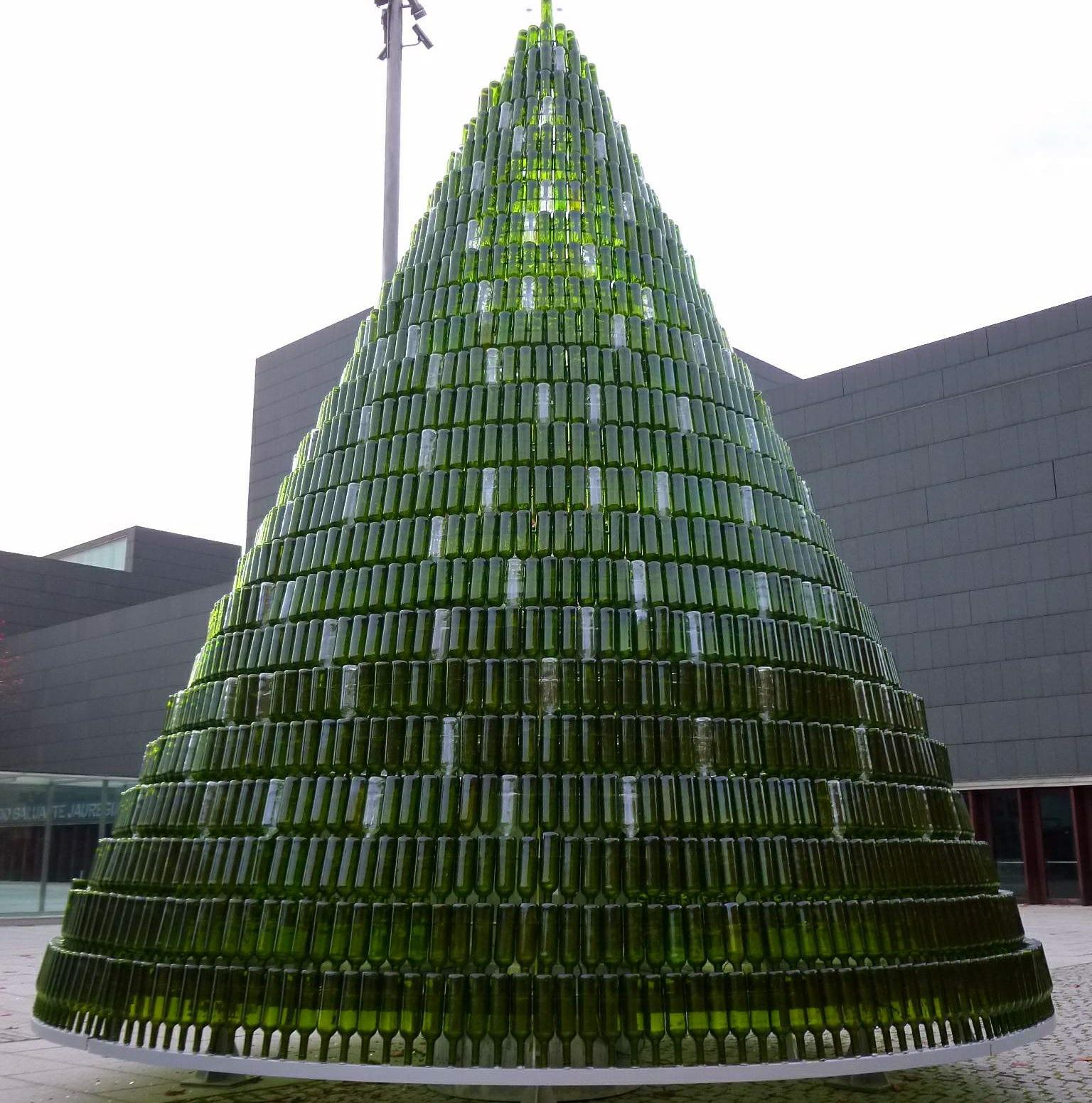 almost anything can become a christmas tree including bottles - How Long Does A Christmas Tree Take To Grow