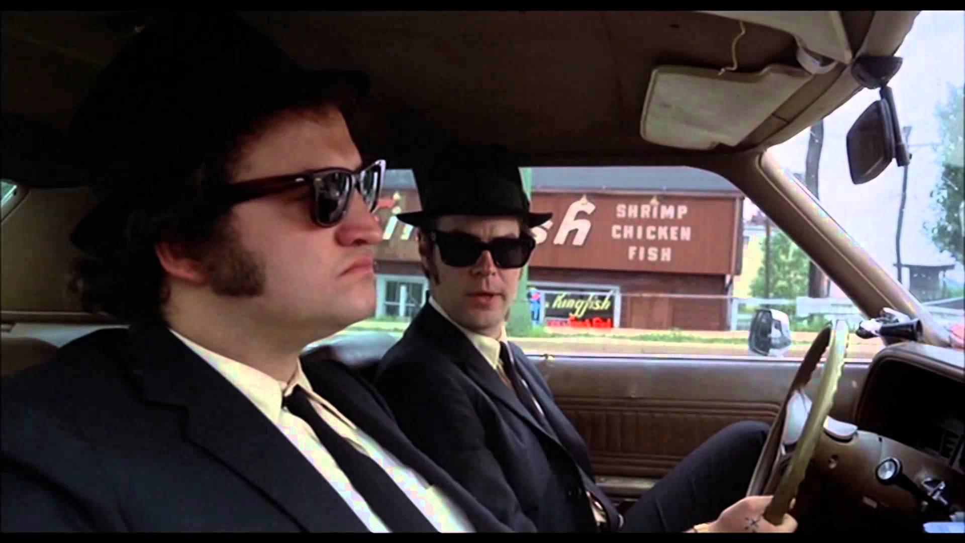 John Belushi Left And Dan Aykroyd In The Blues Brothers