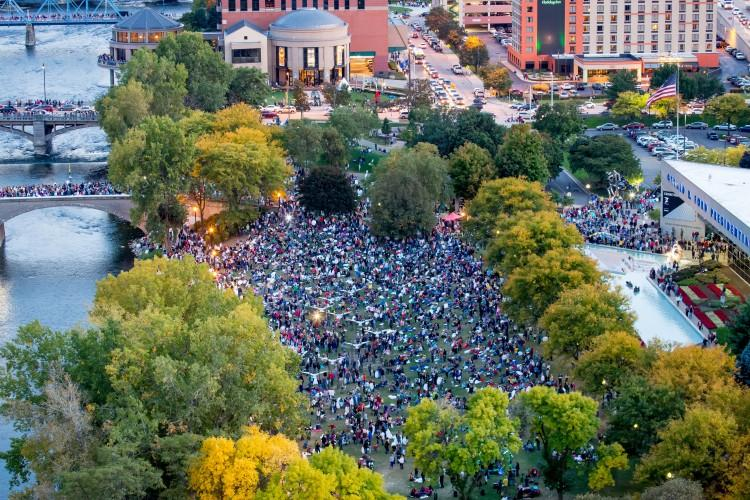 Crowd at ArtPrize
