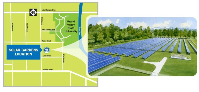 GVSU solar garden