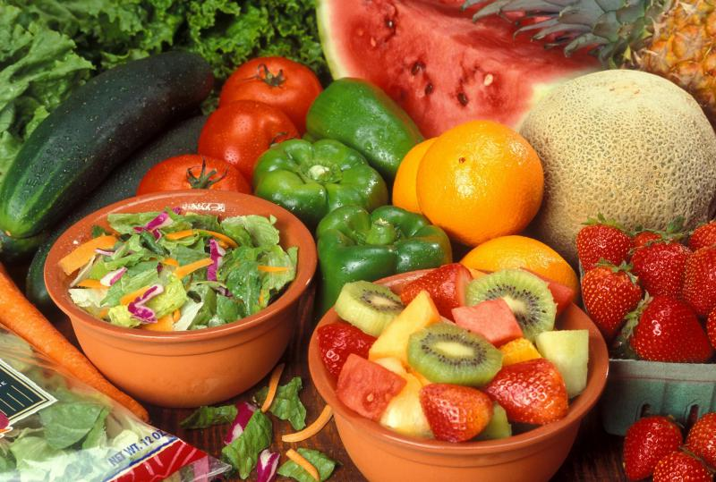 fresh food, fruits and vegetables