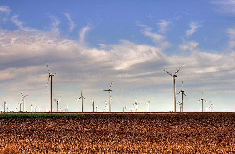 Wind farm in Kansas.