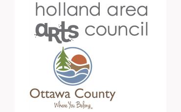 Holland Area Arts Council and Ottawa County combined logo