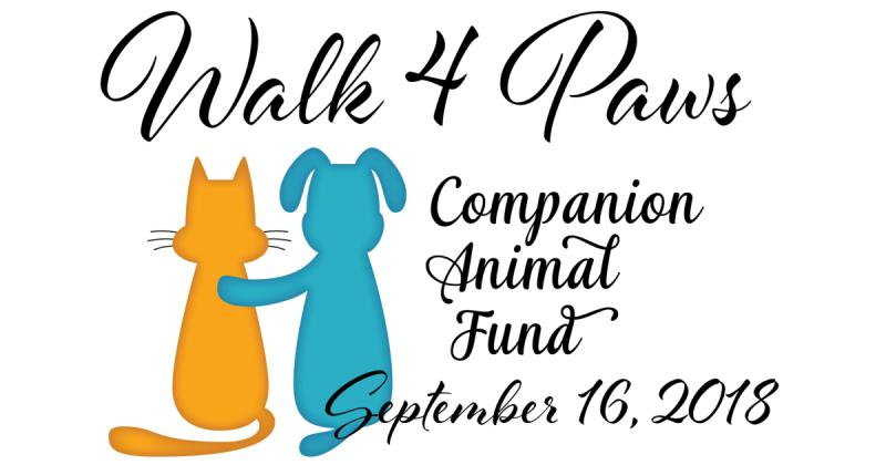 Walk for Paws 2018 logo