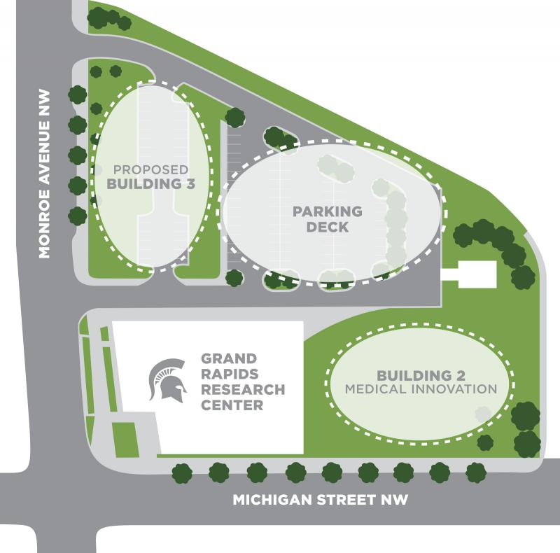 MSU's GR Research Center Phase II map