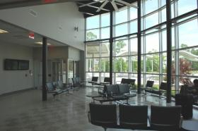 Inside Forden Station