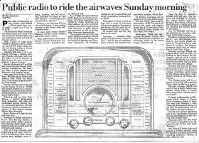 Ben Steelman's 1984 StarNews article about the advent of public radio in Wilmington